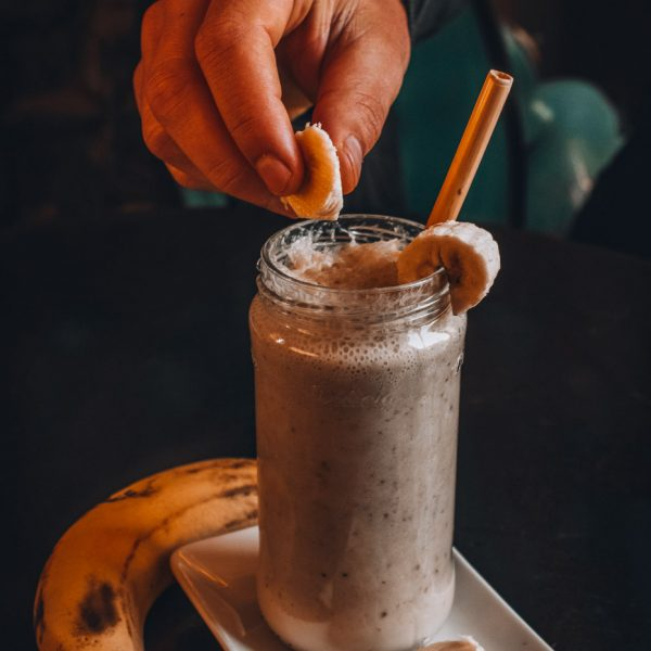 This banana chocolate smoothie is delicious because it tastes like dessert, and is part of our list of favorite smoothies- including a few wonderful plant based smoothies that we love!